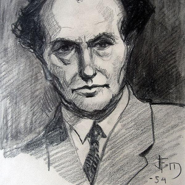 Porträtt av John Fernström visas på Konserthuset