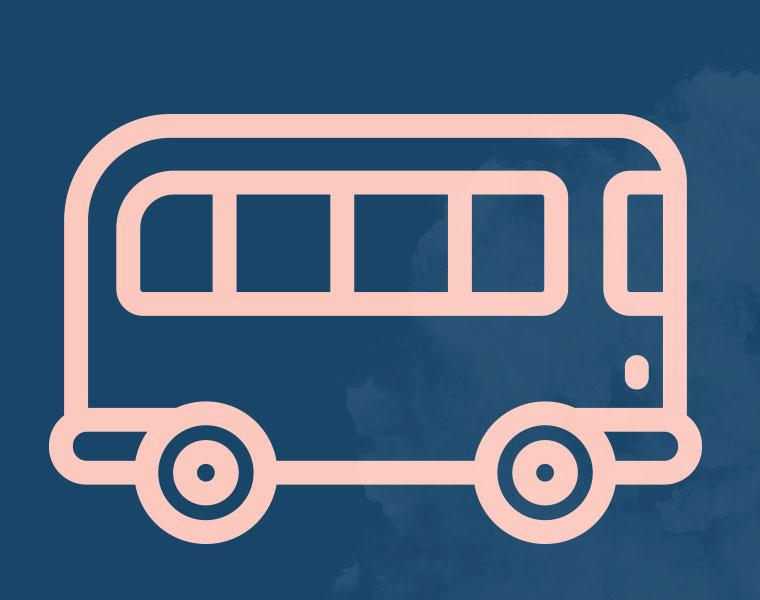 En buss kommer lastad med HSO